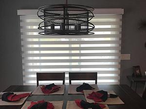 banded window shades