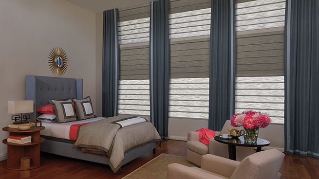 Motorized Soft Window Shades and Roman Window Shades