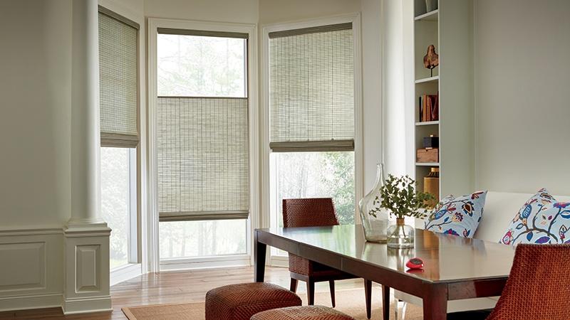 Motorized Woven Wood Window Shades