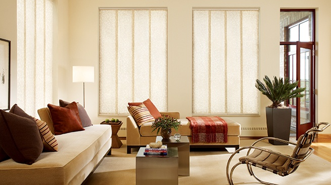 Motorized Woven Wood Window Shades